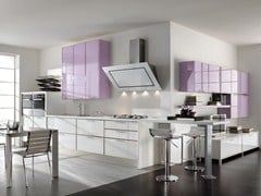 Glass and aluminium fitted kitchen LUCY | Kitchen - Cucine Lube