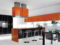 Glass and aluminium fitted kitchen LUCY | Fitted kitchen - Cucine Lube