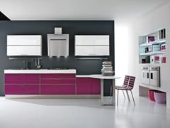 Glass and aluminium fitted kitchen LUCY | Glass and aluminium kitchen - Cucine Lube