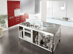 Fitted kitchen with island MAURA | Kitchen with island - Cucine Lube