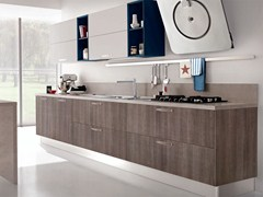 - Lacquered wooden fitted kitchen with handles NOEMI   Kitchen - Cucine Lube
