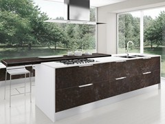 Fitted kitchen with island NILDE GRÈS | Kitchen - Cucine Lube