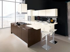 Fitted kitchen with island NILDE GRÈS | Kitchen with island - Cucine Lube
