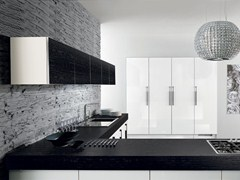 Porcelain stoneware fitted kitchen with handles NILDE GRÈS | Kitchen with handles - Cucine Lube