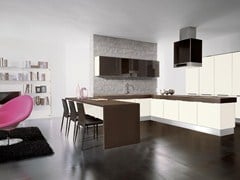 Fitted kitchen with handles NILDE GRÈS | Kitchen - Cucine Lube