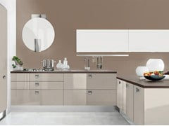 Lacquered fitted kitchen with handles PAMELA | Lacquered kitchen - Cucine Lube