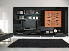 - Mueble modular de pared composable con soporte para tv NILDE | Mueble modular de pared - Cucine Lube