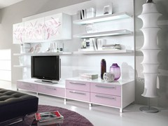 - Mueble modular de pared composable lacado con soporte para tv NILDE | Mueble modular de pared composable - LUBE INDUSTRIES S.R.L.