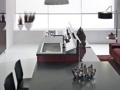 - Cocina integral de madera con isla con tiradores NILDE | Cocina de madera - Cucine Lube