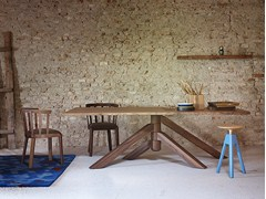 - Rectangular solid wood table KEPLERO | Wooden table - Miniforms