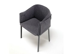 - Fabric armchair with armrests POLO GRACE - Living Divani