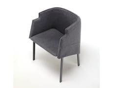 - Fabric armchair with armrests MANDARIN GRACE - Living Divani
