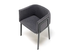- Fabric armchair with armrests PIN-UP GRACE - Living Divani