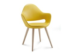 - Upholstered wooden chair SOFT-L - DOMITALIA