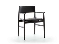 - Wooden chair NEVE | Chair with armrests - Porro