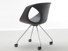 - Polyurethane easy chair with casters UP CHAIR | Easy chair with casters - Tonon