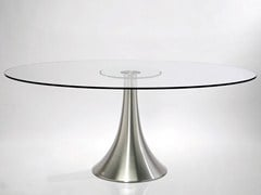 Rectangular round glass table GRANDE POSSIBILITA | Table - KARE-DESIGN