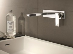 - Wall-mounted washbasin mixer with plate MINT | Washbasin mixer with plate - Fantini Rubinetti
