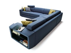 - Corner sofa bed with removable cover MELVIN | Corner sofa - Milano Bedding