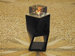 - Contemporary style freestanding modular bioethanol fireplace TWISTY FIRE TWIN - BRITISH FIRES