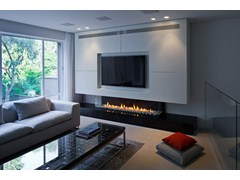 - Contemporary style gas closed fireplace with remote control PANORAMA 130 - BRITISH FIRES