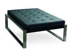 - Leather footstool PIECERA 130 LOUNGE - FueraDentro