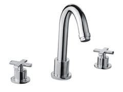 - Design 3 hole chrome-plated brass washbasin mixer EXEDRA | 3 hole washbasin mixer - Bossini