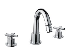 - Design 3 hole chrome-plated brass bidet tap EXEDRA | 3 hole bidet tap - Bossini