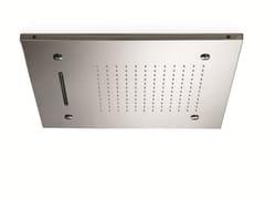 - 3-spray stainless steel overhead shower for chromotherapy ALMENOINDUE CHROMOTHERAPY | 3-spray overhead shower - RUBINETTERIE RITMONIO