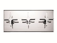 - 3 hole shower mixer with diverter with plate WATERBLADE   3 hole shower mixer - RUBINETTERIE RITMONIO