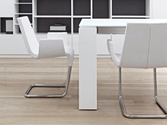 - Cantilever upholstered chair with armrests SKIP | Chair with armrests - Bonaldo