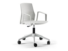 - Swivel task chair with 4-Spoke base with casters UKA | Task chair with casters - ACTIU