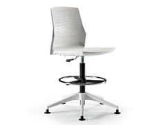 - Height-adjustable swivel task chair with 4-Spoke base UKA | Task chair - ACTIU