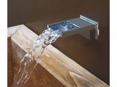 - Wall-mounted chrome-plated waterfall spout BOCCA CASCATA | Waterfall spout - Bossini