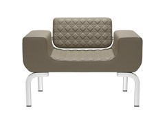 - Upholstered armchair with armrests LOUNGE DIAMOND | Armchair - SitLand
