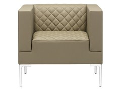 - Upholstered armchair with armrests MATRIX MATELASSÈ | Armchair - SitLand