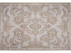 - Handmade rectangular custom silk rug CARDINAL SILVER - EDITION BOUGAINVILLE