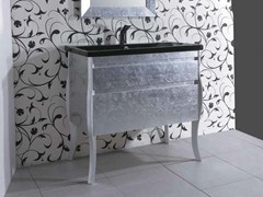 - Silver leaf vanity unit with drawers MINIMAL DECO - LA BOTTEGA DI MASTRO FIORE