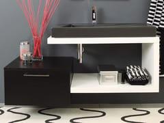 - Wall-mounted wooden vanity unit FUN - OPEN - LA BOTTEGA DI MASTRO FIORE