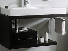 - Wall-mounted wooden vanity unit FUN - LA BOTTEGA DI MASTRO FIORE