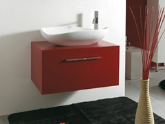 - Wall-mounted wooden vanity unit with drawers TOKIO - LA BOTTEGA DI MASTRO FIORE