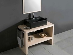 - Wooden vanity unit BENCH OPEN - LA BOTTEGA DI MASTRO FIORE