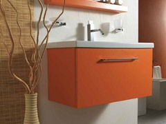 - Wall-mounted wooden vanity unit with drawers K80 - LA BOTTEGA DI MASTRO FIORE