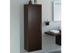 - Tall suspended wooden wall cabinet with doors SYSTEM | Tall wall cabinet - LA BOTTEGA DI MASTRO FIORE