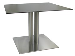 - Square stainless steel table SLIM-76-4-T-X - Vela Arredamenti