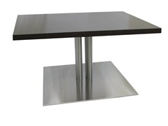 - Square stainless steel table SLIM-96-4-T-X - Vela Arredamenti