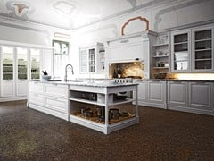 - Lacquered kitchen with island ELITE - COMPOSITION 2 - Cesar Arredamenti