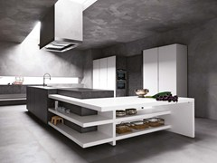 - Stone kitchen with island ELLE - COMPOSITION 1 - Cesar Arredamenti