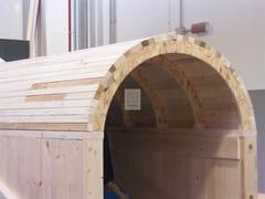 Elemento strutturale prefabbricato per coperturaAbbaino curvo premontato - GRANDI LEGNAMI