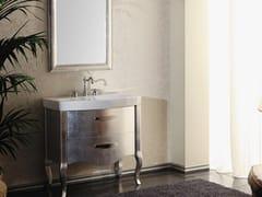 - Silver leaf vanity unit with mirror ZEUS | Silver leaf vanity unit - LA BOTTEGA DI MASTRO FIORE